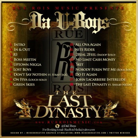 DA U Boys-The Last Dynasty Tracklist